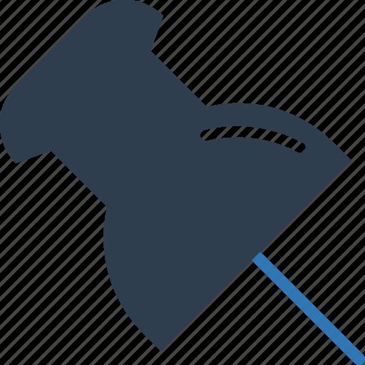 drawing pin, notice pin, noticeboard pin, pin, push pin, tack pin, thumb tack icon