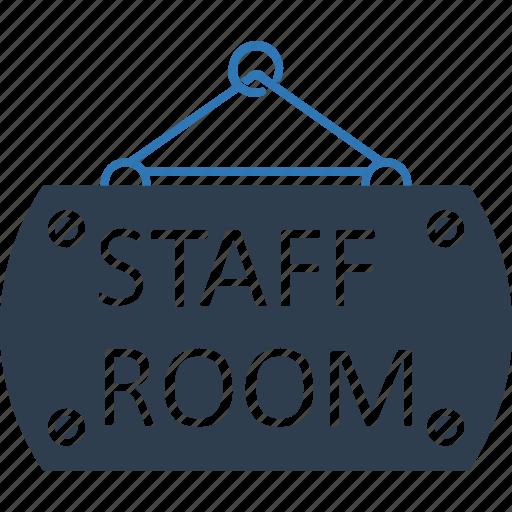 classroom, hanging sign, school room, school sign, staff room, staff room hanging sign icon
