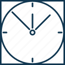 clock, time, timekeeper, wall clock, watch icon