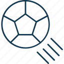 ball, football, football in air, soccer ball, sport, sports equipment icon