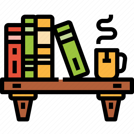 bookcase, books, education, library, shelf icon