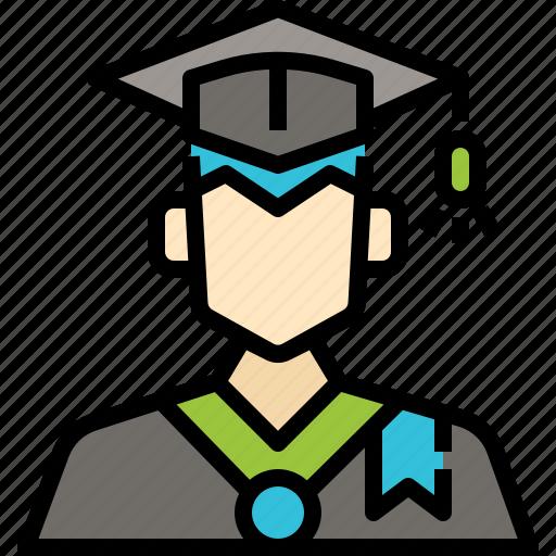 Avatar, graduation, man, profile, student, user icon - Download on Iconfinder