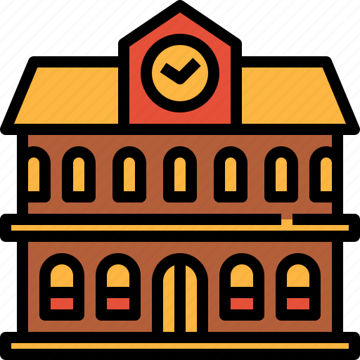 Academy, building, city, college, school, university icon - Download on Iconfinder
