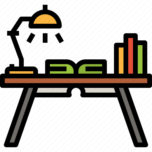 Book, desk, education, furniture, reading, study icon - Download on Iconfinder