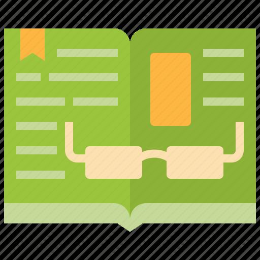 book, books, education, open, reading, study icon