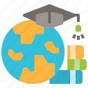 education, graduation, learning, online, study icon