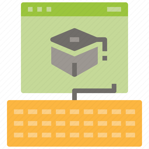education, learning, online, page, study, web icon