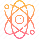 atomic, chemistry, education, molecule, nucleus, physics, science icon