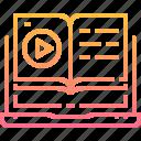 audio, book, earphone, education, learning, online, study, video