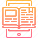 book, education, electronic, learning, online icon