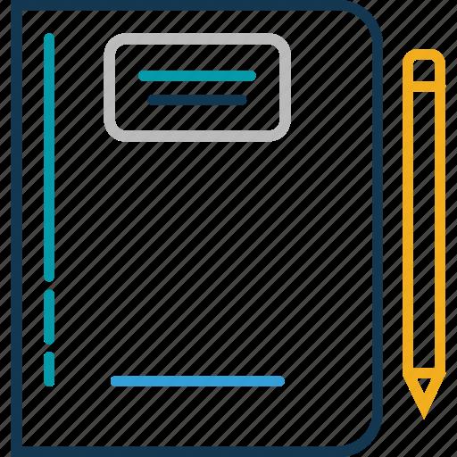 calculation, math class, notepad, writing, writing pad icon