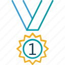 award, award badge, award ribbon, badge, ribbon badge icon