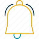 alert, bell, hand bell, ring, school bell icon