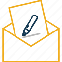 email, envelope, inbox, letter, message, open email icon