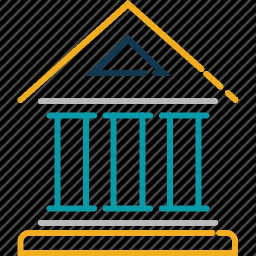 apex court, bank, building, court, court building, museum icon