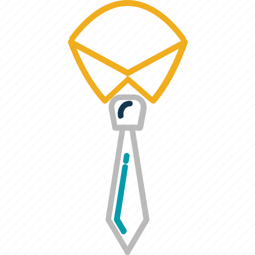 formal tie, necktie, neckwear, tie, uniform tie icon