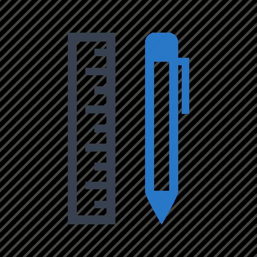 Pen, pencil, ruler icon - Download on Iconfinder