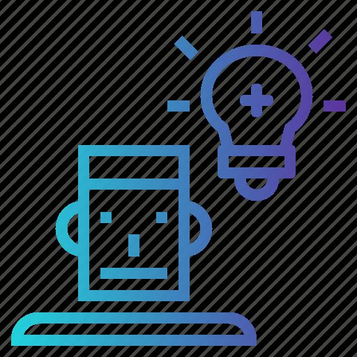 creativity, education, idea, think icon