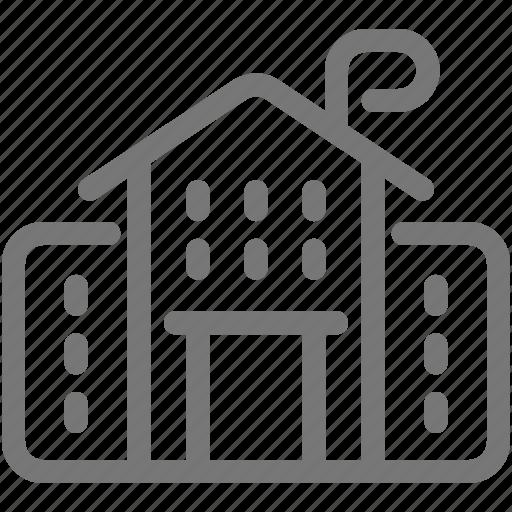 building, college, elementary, school icon
