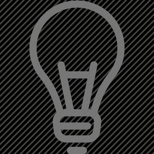 bulb, idea, light, think icon