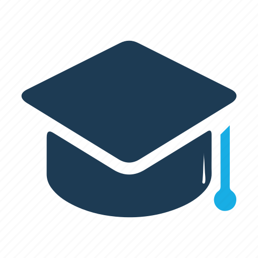 college, education, graduate, graduation, hat, university icon
