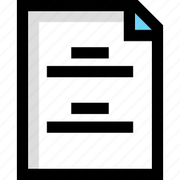 document, file, homework, page icon