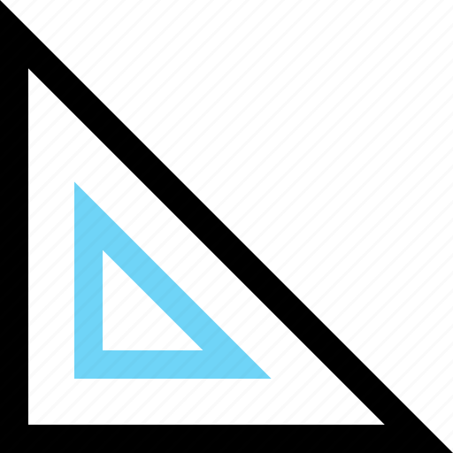 angle, math, ruler, triangle icon