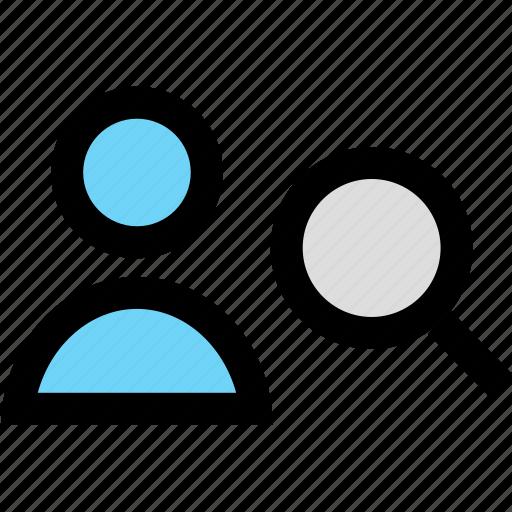 find, profile, search, staff, user icon