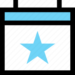 calendar, favorite, save, star icon