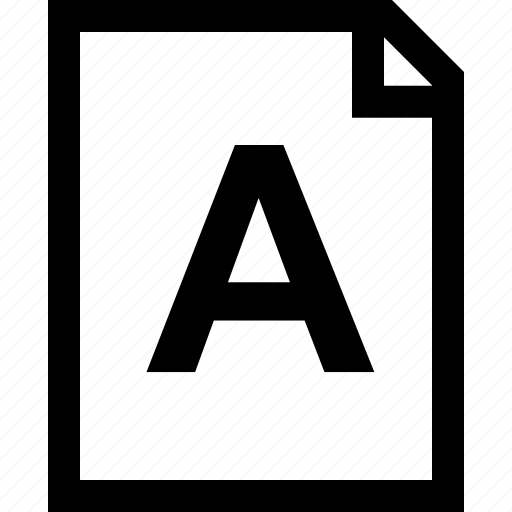 a, assignment, good, grade, letter icon