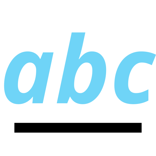 abc, education, learning, line icon
