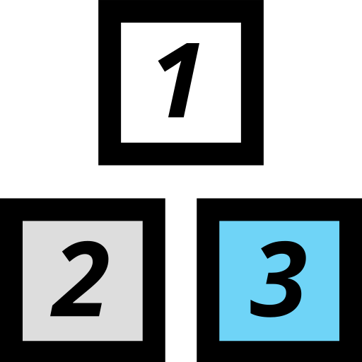 blocks, education, elementary, school icon