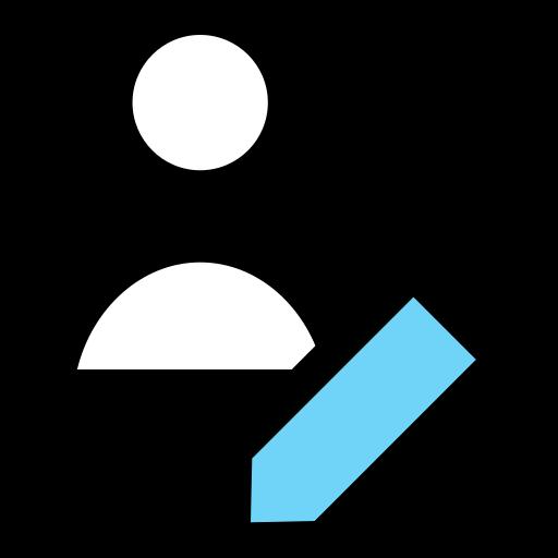 edit, person, staff, student, user icon