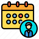 education, schedule, school, student, tool icon