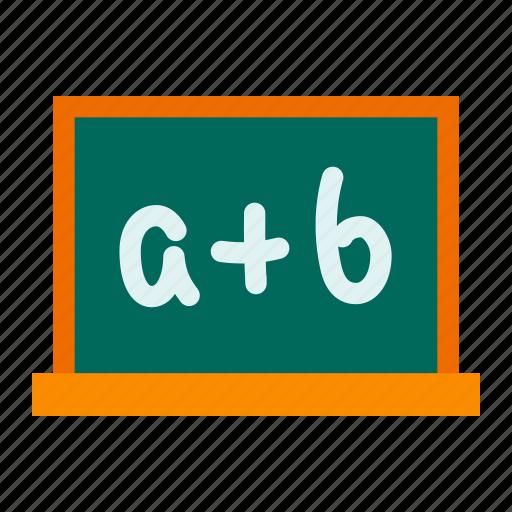 blackboard, board, class, education, learning, school, study icon