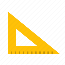drawing, measure, ruler, study, tool, triangle icon