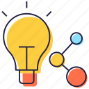 idea exchange, idea sharing, idea transfer, information sharing, sharing thoughts icon