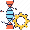 biomedical engineering, dna modification, genetic engineering, genetic modification, genetic setting icon
