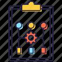 algorithm design, algorithm flowchart, algorithm report, data flowchart, design method icon