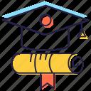 academic degree, degree, diploma, graduate, graduation ceremony icon