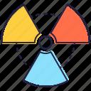 electromagnetic radiation, ionizing radiation, radiations, radioactive, radioactivity icon