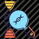 biology testing, biotechnology, dna analysis, dna molecules, dna strand, genetic analysis, heredity icon