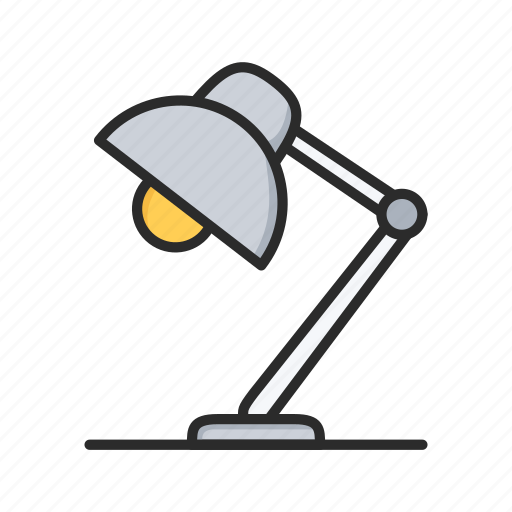 desk, lamp, light, table lamp icon