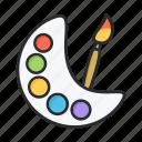 brush, paint, painting, palette