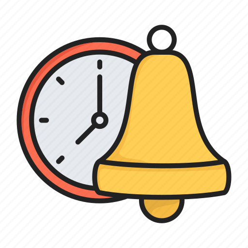 alarm, bell, clock, lunch, remember, time icon