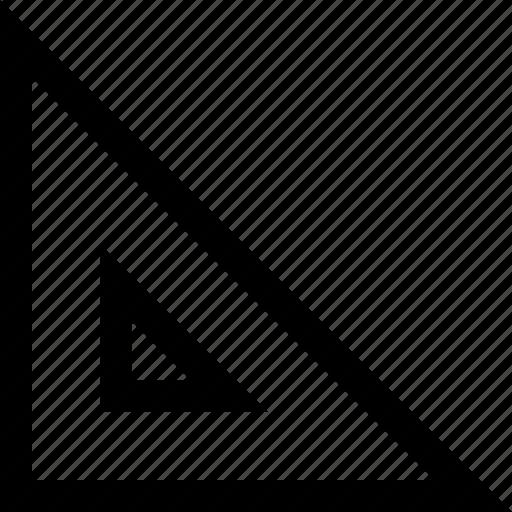 acute, math, measure, numbers, ruler, triangle icon