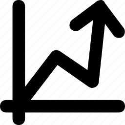 arrow, chart, graph, growth, statistics icon