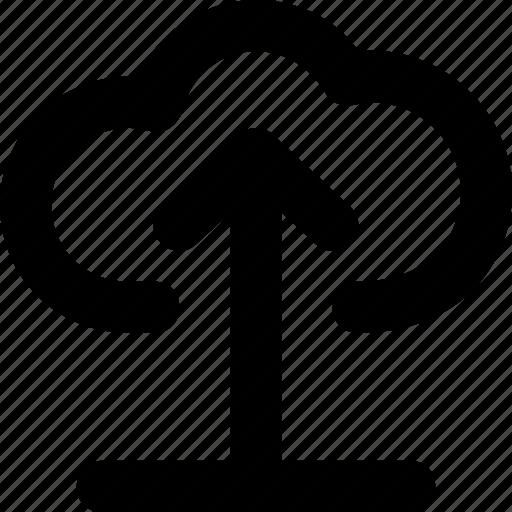 arrow, cloud computing, cloud upload, icloud, uploading icon