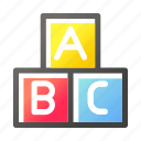 abc, education, learn, school, science, study icon