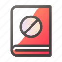 block, book, education, learn, school, study icon